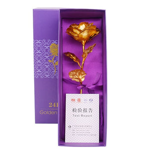 24k Gold Rose with Decorative for Your Valentine