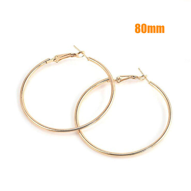 Classic Smooth Circle Hoop Earrings