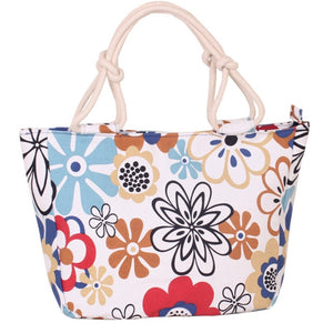 Colorful & Fashion Folding Canvas Tote Shoulder Bag