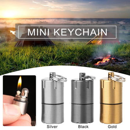 Mini Compact Kerosene Keychain Lighter