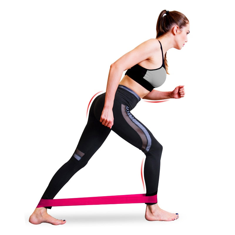 Gym Strength Resistance Bands For Pilates and Cross-fit Workouts