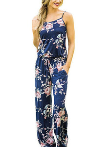 Women's Super Comfy Floral Jumpsuit