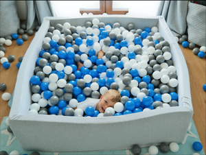 Maxi Size Cotton Square Ballpit with 900 Balls