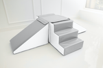 Double Step and Slide Grey & White - Made in the U.K