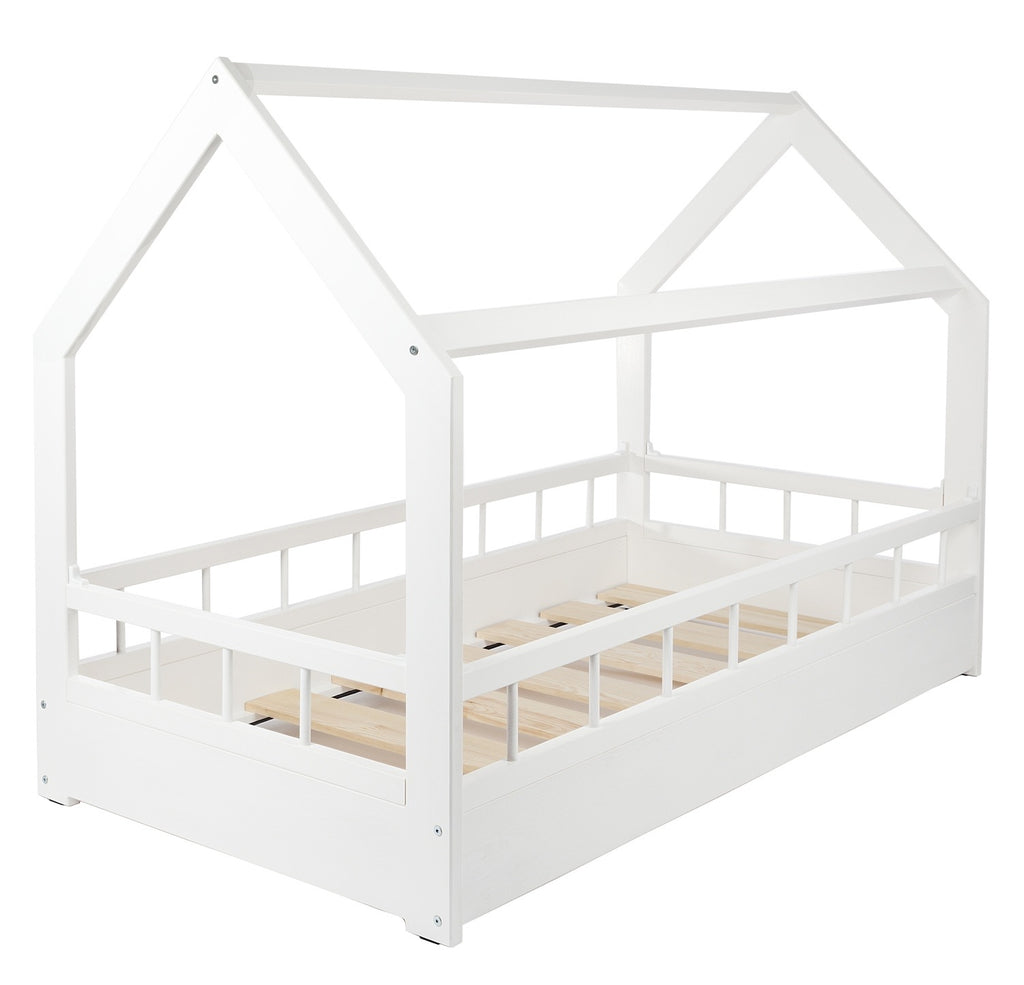 Toddler House Bed with Barriers