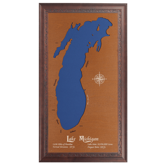 Lake Michigan, Michigan, Wisconsin, Illinois, and Indiana