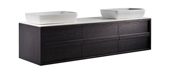 ISSY Z8 1800mm Wall Hung Vanity Unit 6 Drawers - Zuster Furniture