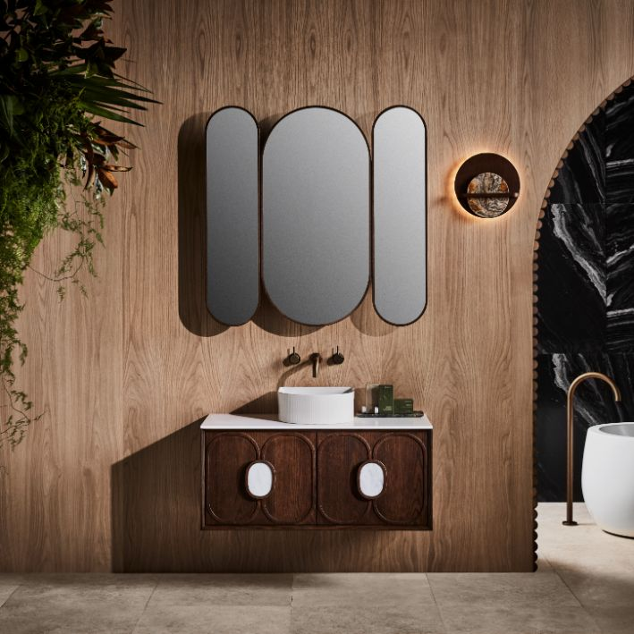ISSY Blossom Triple Mirror with Shaving Cabinet