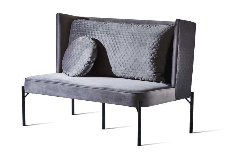 Donkey Grey Velvet Stitch - Zuster Furniture