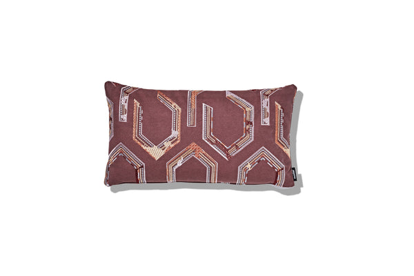 Cushion Horse Shoe Plum 500 x 300 - SHOP NOW - Zuster Furniture