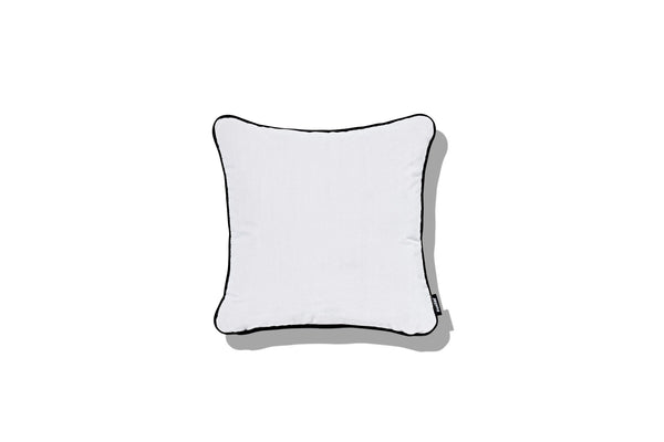 Cushion White Blossom with Steel Magnolia Piping 400 - SHOP NOW - Zuster Furniture