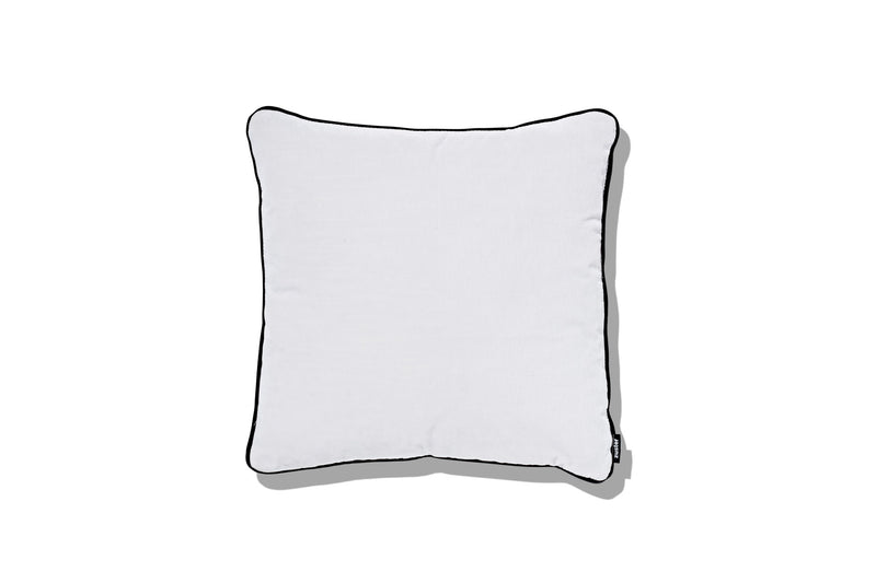 Cushion White Blossom with Steel Magnolia Piping 500 - SHOP NOW - Zuster Furniture