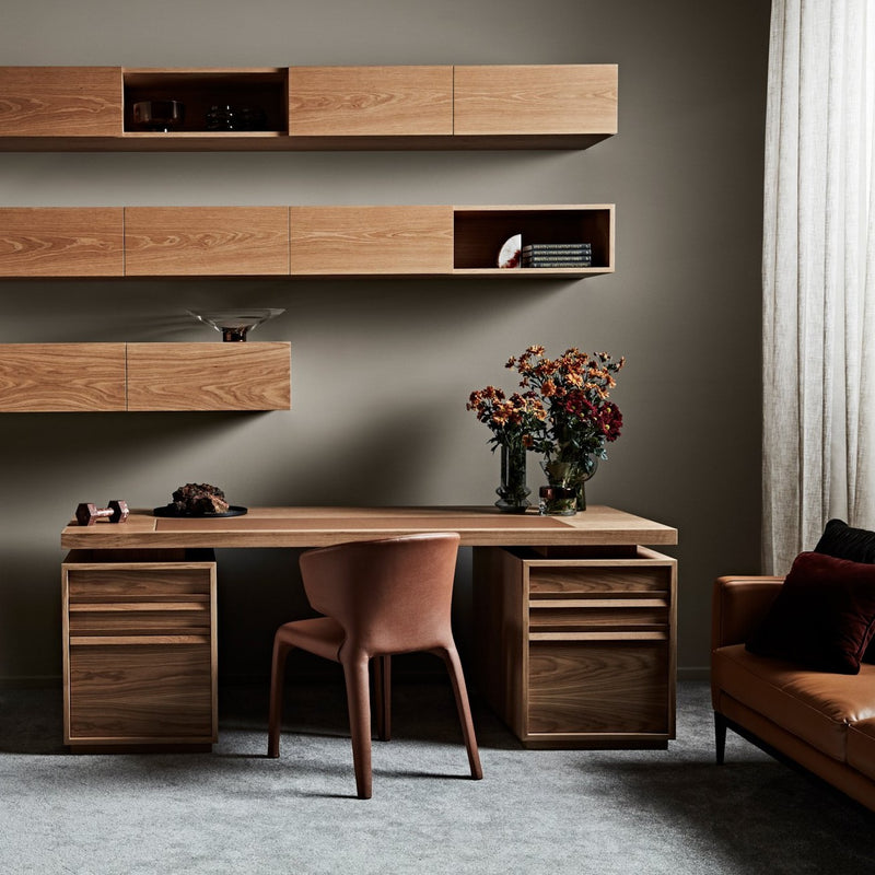 Hero Desk With File Drawers - Zuster Furniture