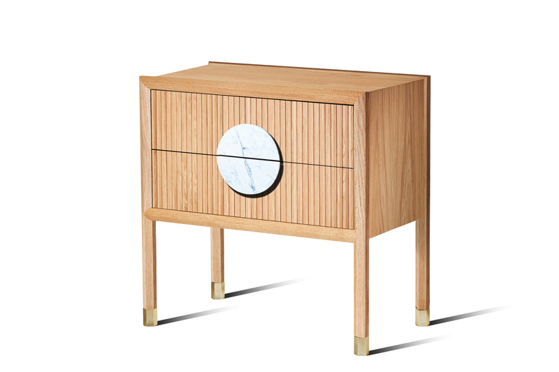 Halo Bedside Table - Zuster Furniture