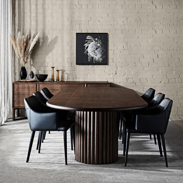 Jewel Scalloped Dining Table - Zuster Furniture