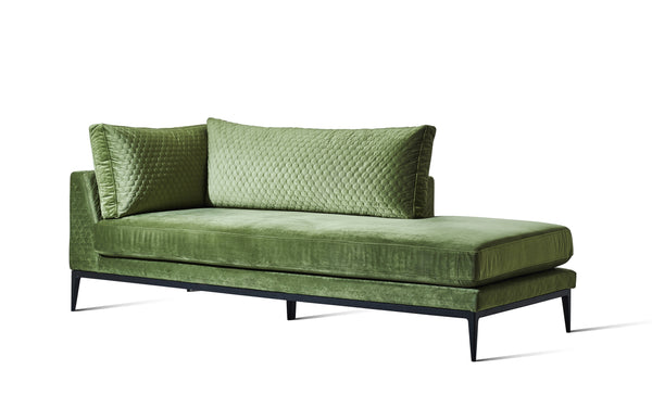 Moss Green Velvet Honeycomb Stitched - DISCONTINUED - Zuster Furniture