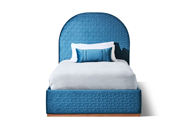 Teal Blue Velvet Tri Stitched - DISCONTINUED - Zuster Furniture