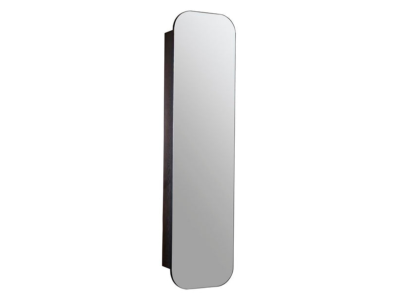 ISSY Z1 Ballerina Tall Oval Mirror with Shaving Cabinet 450x1800 - Zuster Furniture