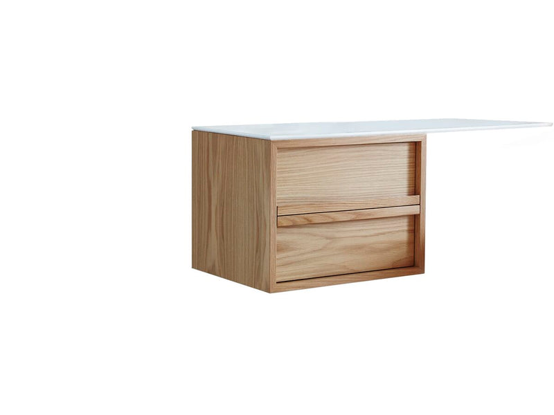 ISSY Z8 Butterfly Vanity Unit 2 Drawers Extended Top LHS/ RHS 1000 - Zuster Furniture