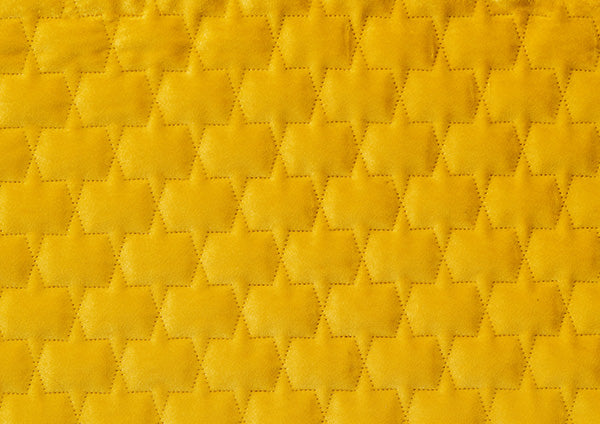 Mustard Honeycomb Stitched - Zuster Furniture