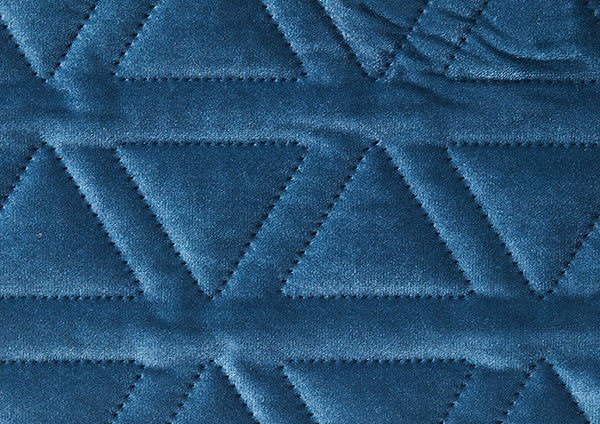 Teal Blue Velvet Tri Stitched - Zuster Furniture