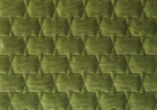 Moss Green Velvet Honeycomb Stitched - Zuster Furniture