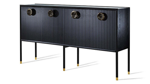 Halo Tall Buffet with Glass handles - Zuster Furniture
