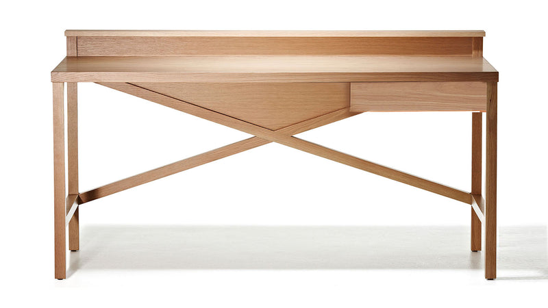 Traverse Desk with Modestry Ledge - Zuster Furniture