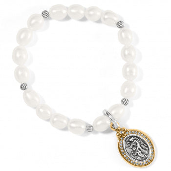 Guardian Angel Pearl Stretch Bracelet