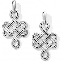 Load image into Gallery viewer, Interlok Endless Knot Post Drop Earrings