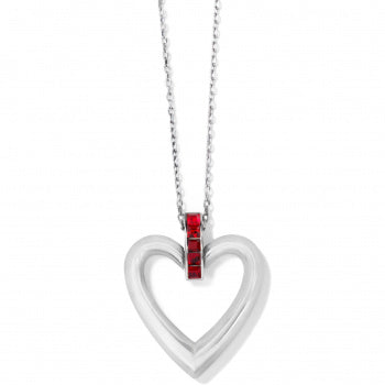 Spectrum Open Heart Red Necklace