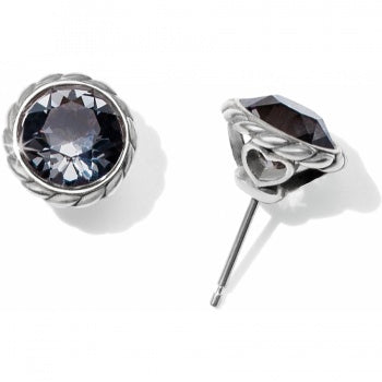 Brighton Black Diamond Iris Stud Earrings