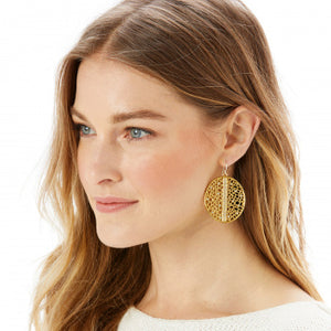 Fiji Sparkle French Wire Earrings Gold