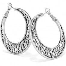 Load image into Gallery viewer, Fiji Sparkle Hoop Earrings Silver