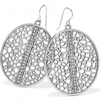 Fiji Sparkle French Wire Earrings Silver