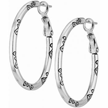 Oval Hoop Charm Earrings