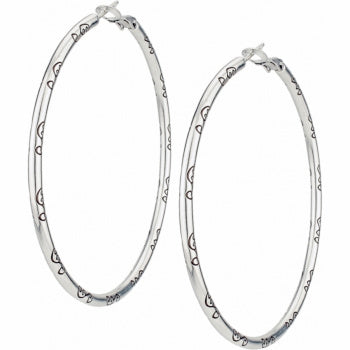 Grande Hoop Charm Earrings