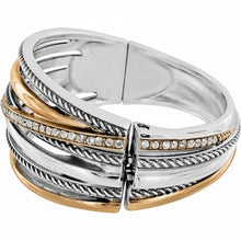 Load image into Gallery viewer, Neptune's Rings Gold Hinged Bracelet