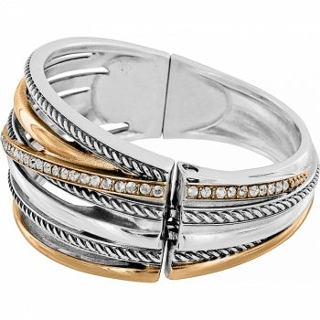 Neptune's Rings Gold Hinged Bracelet