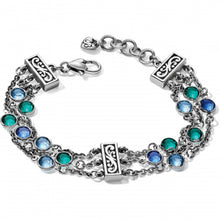 Load image into Gallery viewer, Elora Gems Blues Tri Strand Bracelet