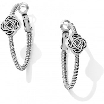 Interlok Knot Rope Hoop Earrings