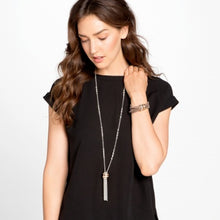 Load image into Gallery viewer, Neptune's Rings Tassel Necklace