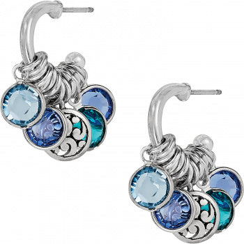 Elora Gems Blues Small Hoop Earrings