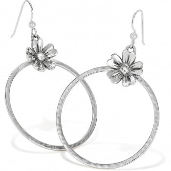 Flora French Wire Hoop Earrings