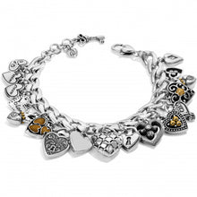 Load image into Gallery viewer, Brighton One Heart Charm Bracelet