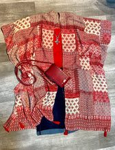 Load image into Gallery viewer, Red Patchwork Bandana Kimono