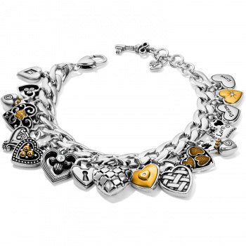 Brighton One Heart Charm Bracelet