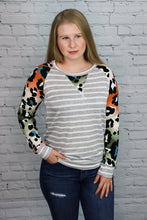 Load image into Gallery viewer, Cool Cat Striped Raglan
