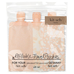 Blush Refillable Travel Pouches 3 pc
