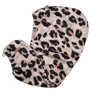 Leopard Microfiber Quick Drying Hair Towel